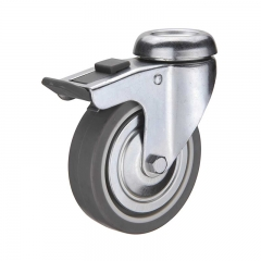 Bolt Hole Double Brake Caster