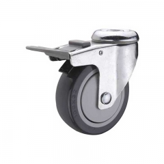 80 kg Polyurethane Double Brake Stainless Steel Caster