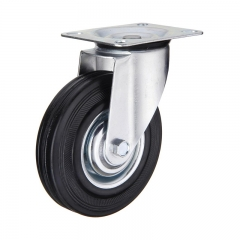Rubber Cast Iron Casters