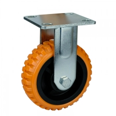 Fixed/Rigid Caster Wheels Polyurethane Plastic