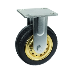 Fixed Elastic Rubber Caster Wheel