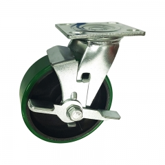 Polyurethane Caster Wheel With Side Brake