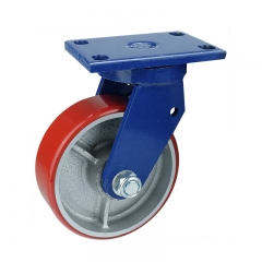 Cast iron core polyurethane swivel caster wheel