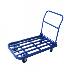 Blue Square Tube Foldable Trolley