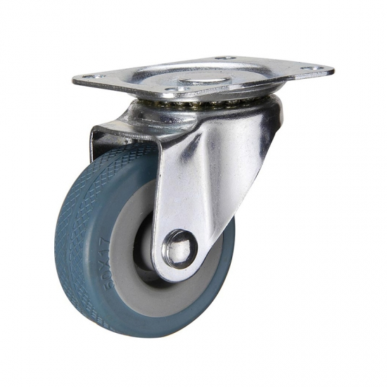 TPR bolt hole twin-wheel caster