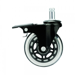 Light duty transparent PU caster wheel lock