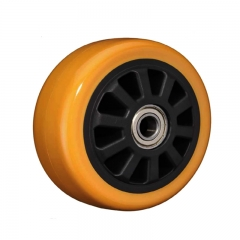 High impact polyurethane single wheel