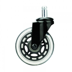 Light duty transparent PU caster wheel