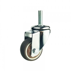 Light duty brown swivel TPR caster wheel