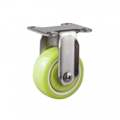 Light duty stainless steel pu fixed caster