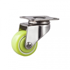 Light duty stainless steel Polyurethane/pu swivel caster