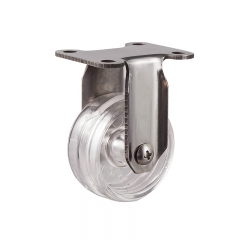 Light duty stainless steel pc fixed caster