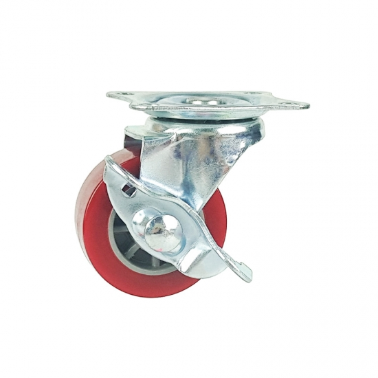 Light duty swivel casters with total brake