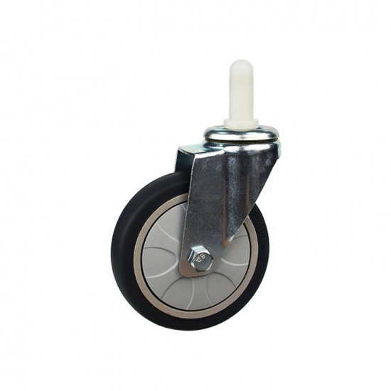 expanding stem swivel locking ring caster wheel