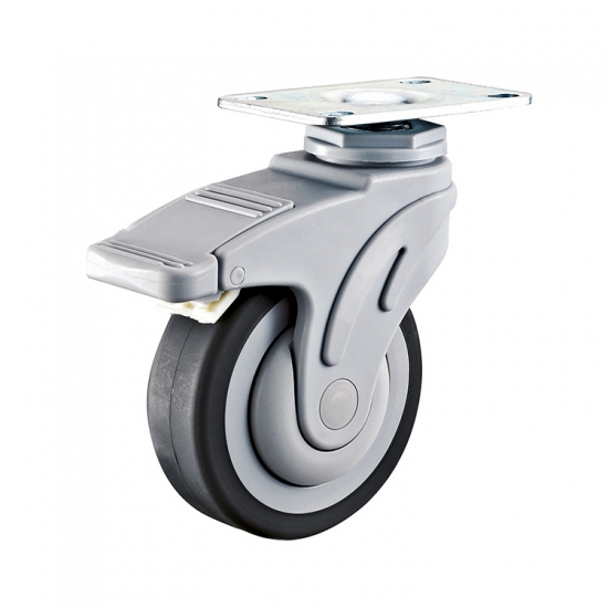 Flat Tread Top Plate Medical Caster Wheel