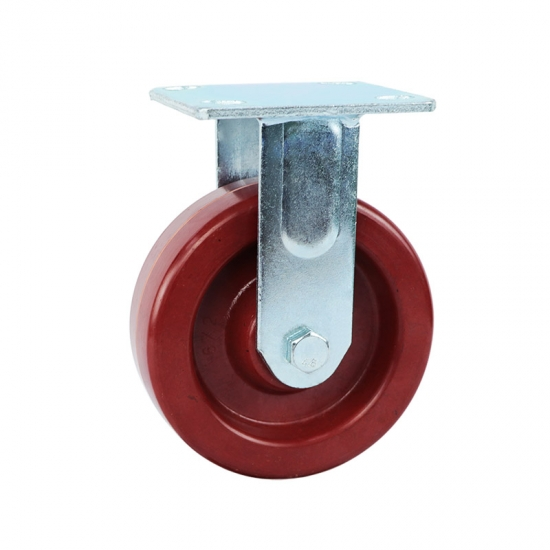 High heat resistant fixed caster wheels