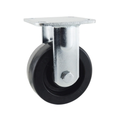 Heat resistant fixed caster wheels